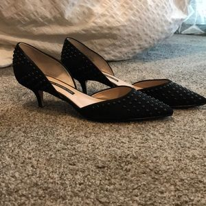 Re-heeled French Connection black heels